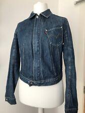 Levis Girls Womens Blue Denim Jacket Medium Zip Uk 12/14