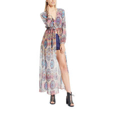 Ladakh Gulu Chiffon Long Sleeve Kimono Dress - Size M - Free Express Post