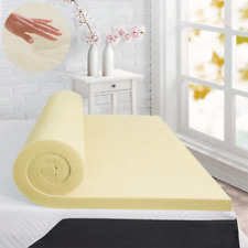 """Memory Foam Mattress Topper Double Bed 1"""" Deep 100% Memory Available FREE P&P"""
