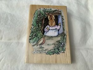 Stampendous Beatrix Potter RP010 Christmas Visitor Wooden Stamp