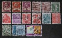 HELVETIA SERIE OF STAMPS USED HINGED. (H2)