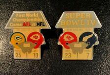 Vintage Kansas City Chiefs Nfl Super Bowl I and Iv Starline Collector Pins-Rare!
