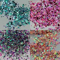 10g Chunky Mixed Holographic Flake Festival Glitter Nail Face Tattoo Body Dance