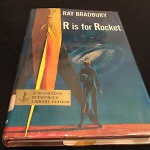R is for Rocket Ray Bradbury Doubleday Reinforced Library Edition - HC/DJ 1962