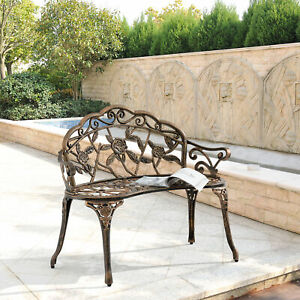 Garten Bank Bronze Gusseisen Antik Eisenbank Parkbank Sitzbank Eisen Shabby Rund