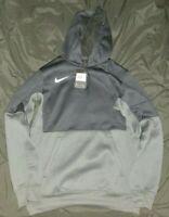 Mens Nike Sportswear Pullover Hoodie Sweatshirt Black/Gray Size Small CI4765-010