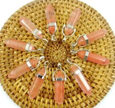 Wholesale cherry quartz Hexagonal Point Pendant Gemstone Jewelry Necklace 10PCS