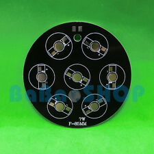 7W Aluminum PCB 85mm for High Power LED Light Lamp Spotlight Bulb 7x1W 7x3W 7x5W