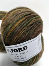 FJORD 100% Wool Yarn, Crystal Palace Yarns, Field & Stream color, NEW LOT OF 2