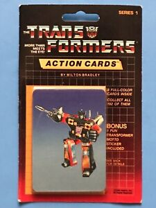 1985 Hasbro TRANSFORMERS Action Cards Sealed Pack, RUMBLE # 106 Showing MOSC!