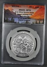 2012 ANACS SP70 5oz SILVER DENALI NATIONAL PARK QUARTER FIRST STRIKE .999 AG