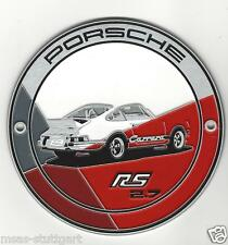 Porsche 911 Carrera RS 2.7 Grill Badge Plakette Kühlergrill orange Lim.Edition