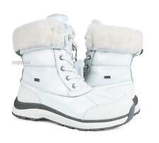 UGG Adirondack III Patent White Leather Fur Boots Womens Size 9 ~NIB~