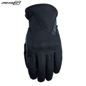 Five Milano Schwarz Wasserdicht & Thinsulate 180g Mid Saison Motorrad Handschuhe