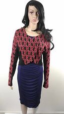 New - Metalicus Ambra Female Crop Jacket Long Sleeve black/berry Size S - M