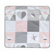 Roba Kuscheldecke zweiseitig 80x80 cm Happy Patch rosa