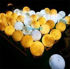 3D USB LED Magical Moon Night Light Moonlight Table Desk Moon Lamp Home Decor DI