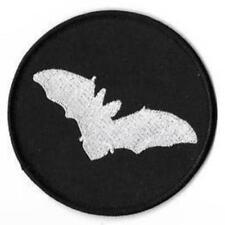 Fledermaus BAT rund Patch Aufnäher Batcave Post Punk Gothic Goth Rock Kutte  NEU