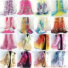US SELLER-lot of 10 bulk Chiffon Shawl Scarf Stole Wrap Fashion Women Wholesale