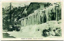 1929 Ponte Di Legno Veduta Invernale Cascata Ghiaccio Neve Case FP B/N VG