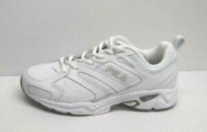 Fila Size 8 White Leather Running Sneakers New Womens Shoes