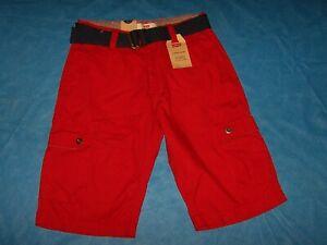 Size 10 Reg W 25  Boys Levi's Cargo Shorts with Belt (Red)