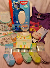 HONEY BUNNY BABY LOT ALL NEW BIB SOCKS SHIRT & MORE! 10 ITEMS FREE FAST SHIPPING