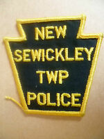 Patches: NEW SEWICKLEY TWP USA POLICE PATCH (NEW* apx. 10x10 cm)