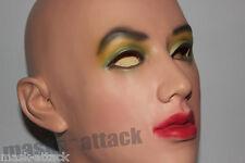 LATEX RUBBER FEMALE DOLL FANCY CROSS DRESS HEAD FACE HOOD WOMAN LADY MASK UK