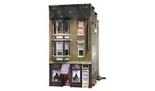 Woodland Scenics BR5051, HO Scale, Betty's Burning Building, w/ LED Lights, 5051