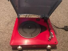 GPO STYLO TURNTABLE  RECORD PLAYER - RED - 3 SPEED BUILT IN SPEAKERS - PERFECT