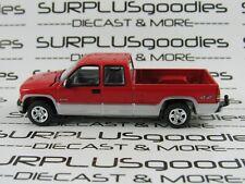 Johnny Lightning 1:64 LOOSE Red 2002 CHEVROLET SILVERADO 1500 Dual Cab Pickup