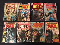 DC BRONZE AGE WAR Lot of 8 comics: OUR ARMY AT WAR (Sgt Rock), STAR SPANGLED WAR