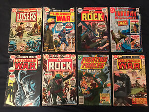 DC BRONZE AGE WAR Lot of 8 comics: OUR ARMY AT WAR (Sgt Rock), STAR SPANGLED WAR