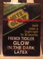 Vintage Novelty Condom Nite Glow French Tickler Glow In The Dark Latex