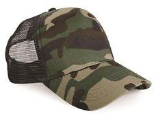 Beechfield Retro Camouflage Snapback Trucker Cap JUNGLE Camo One Size UNISEX
