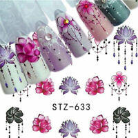 Nail Stickers Flower Water Transfer Decals Nail Art Decoration Tattoo DIY Tips