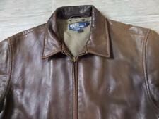 POLO Ralph Lauren LEATHER Jacket MEDIUM Brown