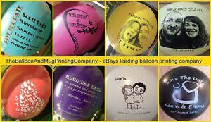 "50 Custom Printed Personalised 12"" Balloons. Wedding Save the Date Anniversary"