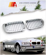 99-02 BMW E46 2D Coupe Pre-Facelift 01-06 M3 Chrome Front Kidney Grilles grb6