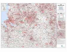 Postcode Sector Map 17 Manchester and Merseyside (Liverpool) - Laminated Map