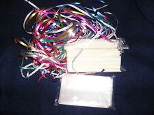 "White 100  6"" 5/32 choc candy making cake pop lollipop sticks bags ribbons kit"