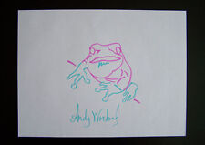 "Andy Warhol ""Endangered Species - Tree Frog"" Original handsigned drawing - COA"
