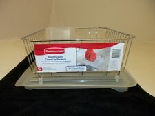RUBBERMAID SMALL SINK 6008 & 1180 DISH DRAINER AND TRAY BOARD SET CHROME NEW!