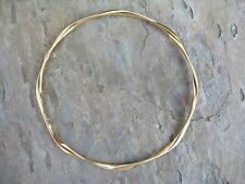 14 KT Yellow Gold Round Slip On Bangle Bracelet NEW 2.5 mm in Thickness NEW