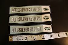 QUIKSILVER Silver Edition Surfboards Quicksliver Surfing Decal STICKER x3