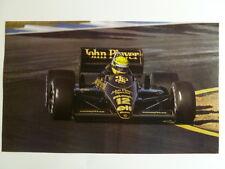 1987 Lotus Renault #12 John Player Special F1 Picture / Print / Poster RARE!!