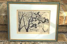 "WALTER BOHL SIGNED RARE ETCHING ""WOOD DUCKS"" ARTIST DUCK STAMPS"