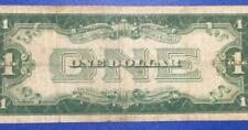 """1934 $1 Blue """"FUNNY BACK"""" SILVER Certificate X318 VG! Old US Currency"""