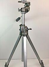 Vtg Manon 600 HD All Metal Telescoping Camera Tripod  Made in Japan  EUC